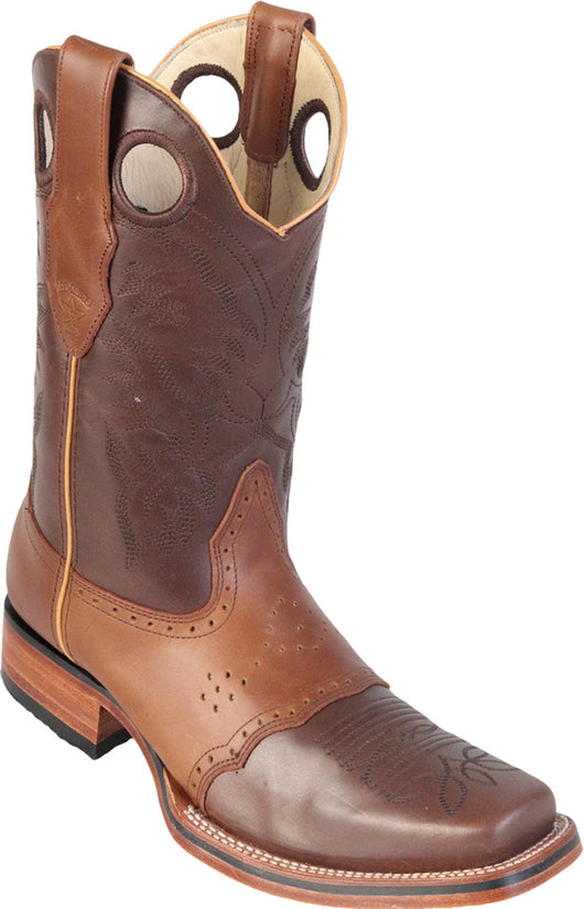 Brown Honey Leather Saddle Rodeo Boot Los Potrillos Western Wear