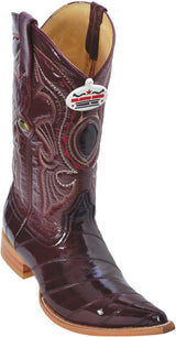 Burgundy Vino Eel Anguila Pointy Puntal Boot Bota