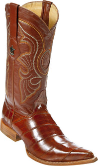 Cognac Eel Anguila Pointy Puntal Boot Bota