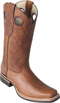 Honey brown rubber sole boot