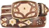 Men's King Exotic Ostrich Western Fashion Belt