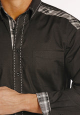 Long Sleeve Black button down shirt