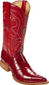 Red Roja Eel Anguila Pointy Puntal Boot Bota