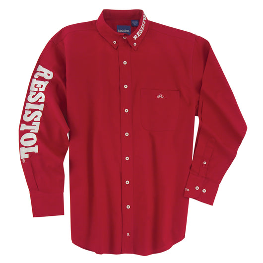 Resistol Red White Marketing Logo Shirt Los Potrillos Western Wear