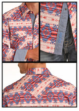 Western Snap Aztec Print Rock and Roll Los Potrillos Western Wear
