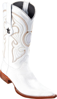 Men's Los Altos Boots white ring lizard 3X toe