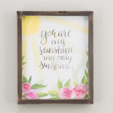 You Are My Sunshine Framed Watercolor Print by Glory Haus
