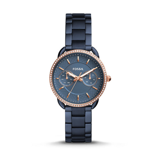 Fossil Tailor Multifunction Blue Stainless Steel Watch