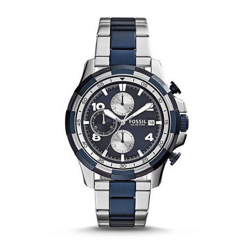 Fossil Dean Chronograph Two-Tone Stainless Steel Watch