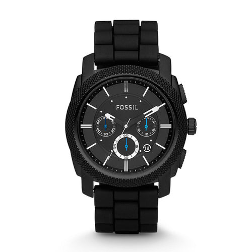 Fossil Machine Chronograph Black Silicone Watch