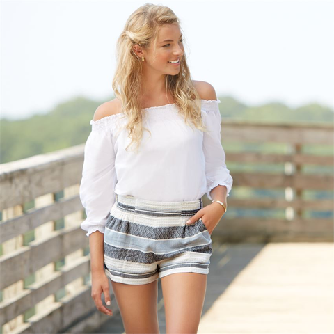 Savannah Striped Shorts