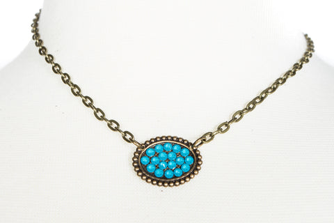 Sideways Mini Oval Necklace