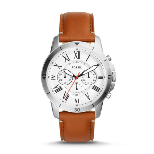 Fossil Grant Sport Chronograph Tan Leather Watch