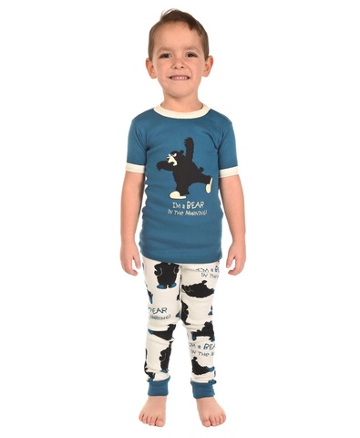 Bear in the Morning Boy Kid PJ Set