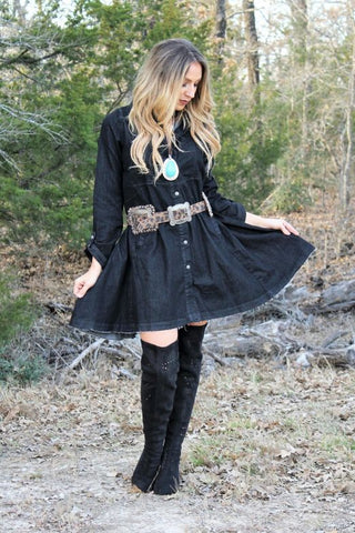 Black Denim Dress