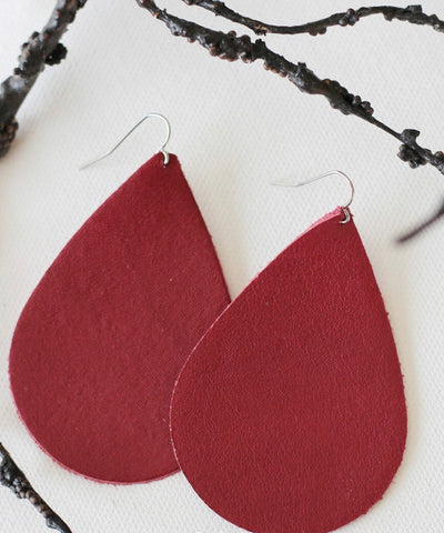 Leathered Psalm Leather Berry Earrings