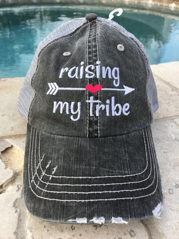 "Embroidered ""Raising My Tribe"" Cap"