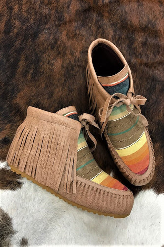 Serape Leather Moccasins by L&B