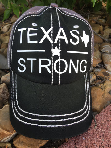 Hurricane Harvey Relief Cap - Black/Grey