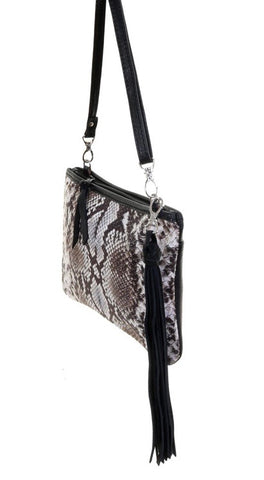 Cobra Snake Print Medium Clutch