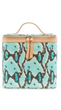 Carmen Turquoise Snake Slim Train Case 8056