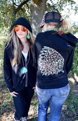 Zuni Zip Up Hoodie by Crazy Train