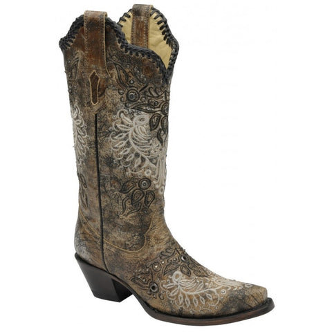 Black Antique Saddle and Studs Boot