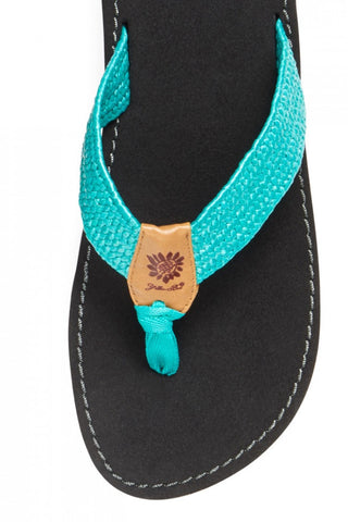 Athena Sandal in Turquoise