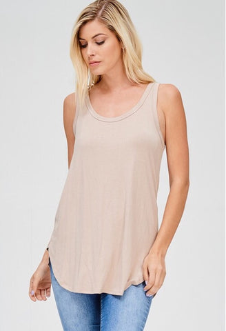 Jersey Solid Sleeveless Top
