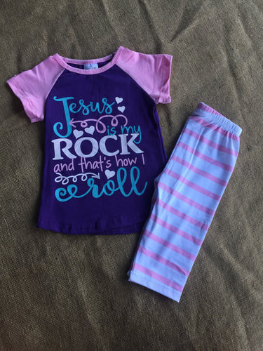 Jesus is My Rock Kid's Outfit
