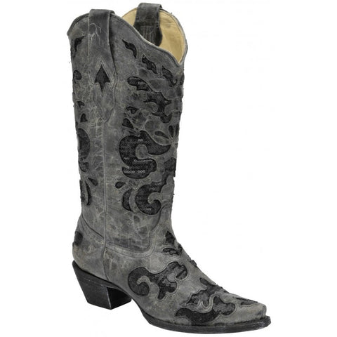 Sequin Inlay Western Boots