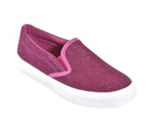 Girls Glitter Slip-Ons