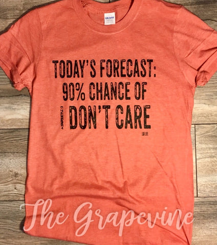 Today's Forcast 90% Chance of I Don't Care
