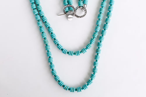 2 Strand Turquoise Necklace