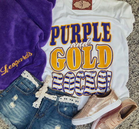 Purple & Gold Rock Tee - Youth