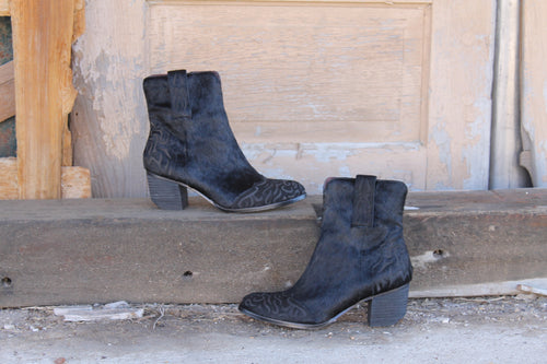 Stallion Cowhide Booties by L&B