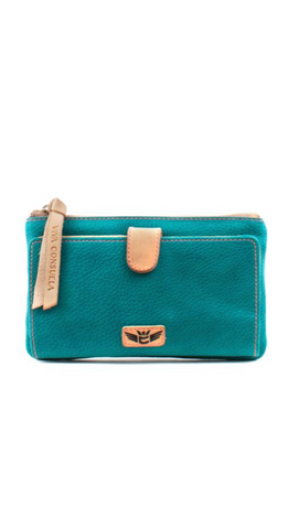 Guadalupe Turquoise Slim Wallet 6633