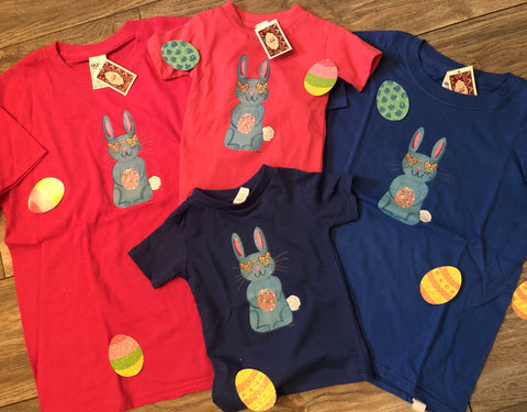 Easter Bunny Pink and Blue Infant and Youth T Shirts