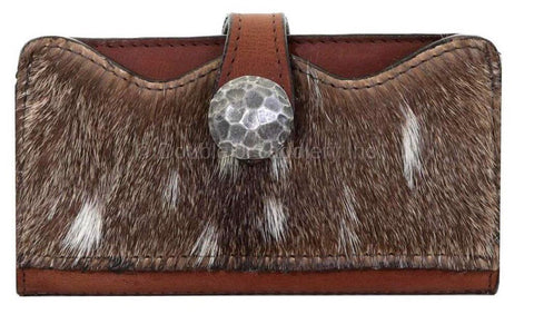 Ladies Wallet-Axis Pocket-Brandy Pull-Up Back LW223