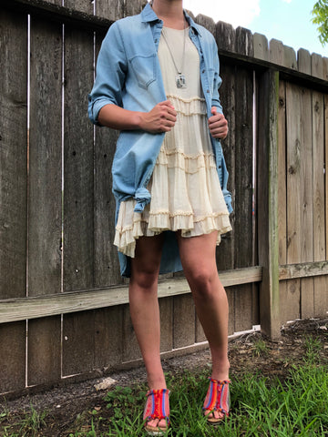 Lightwash Denim Dress