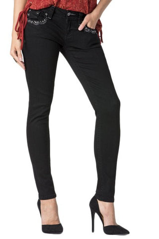 Dark Angel Signature Rise Skinny Denim
