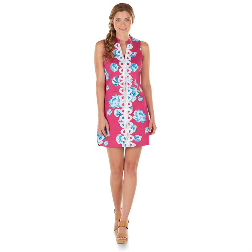 Mia Embroidered Dress Pink Floral