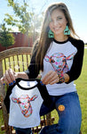 Sheep Down Baby Baseball Tee