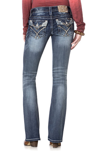 Miss Me Glitter Rendezvous Boot Cut Jeans