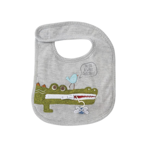 Alligator Zipper Mouth Baby Bib