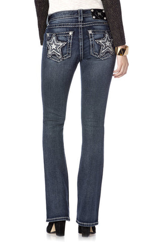 Shooting Star Midrise Boot Cut Jeans