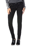 Jazzy Featherette Cross Skinny Jeans
