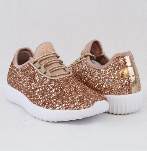 Glitter Bomb Sneakers in Rose Gold – The Grapevine Boutique ccc476c2a