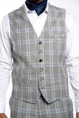 Bank Windowpane Vest