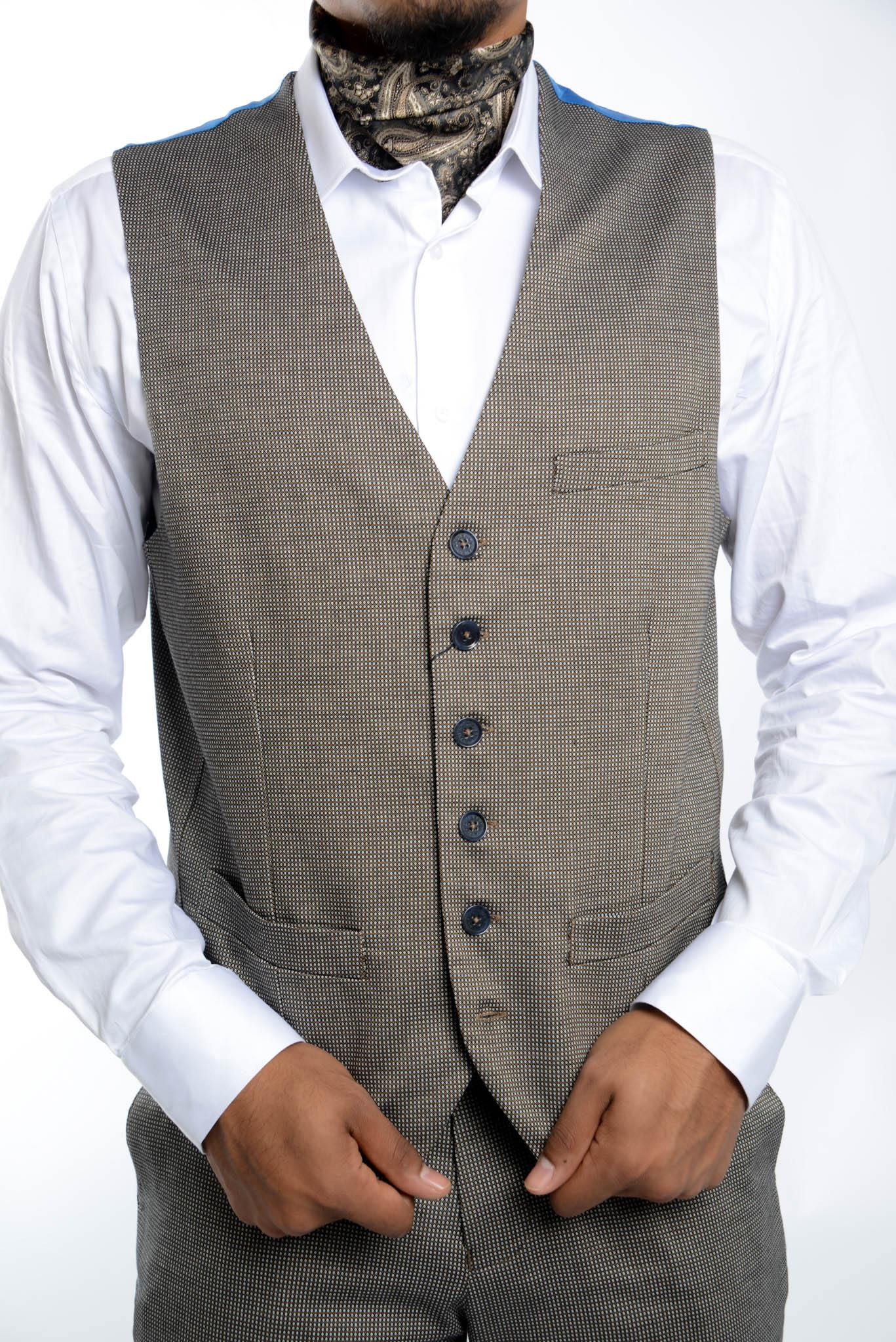 Bank Dot Jacquard Vest - Haight & Ashbury